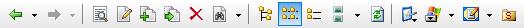 Toolbar flat symbols