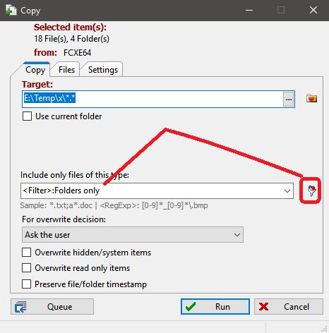 Copy folder structure