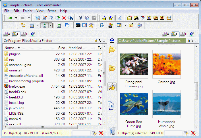 FreeCommander freeware screenshot